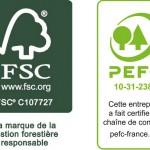 logos FSC et PEFC