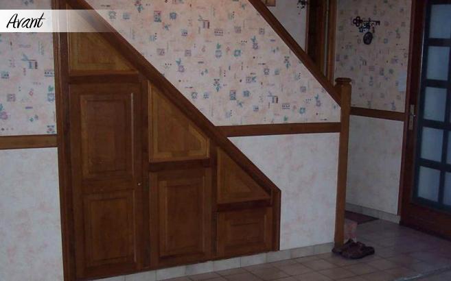 rénovation escalier : profil avant