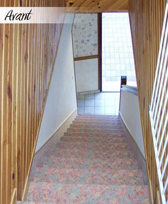 rénovation d'escalier : avant