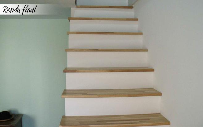 R novation d escalier sur mesure le blog du bois - Vitrifier un escalier en bois neuf ...