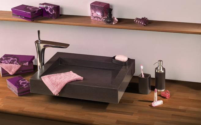 salle de bain en bois chauffé