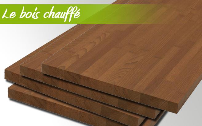 panneaux de bois chauffé