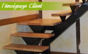 Escaliers en hêtre abouté