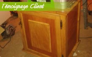 meuble bois okoumé et chêne