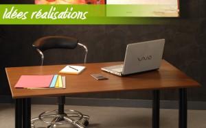 Idée réalisation #1 : bureau en hêtre chauffé