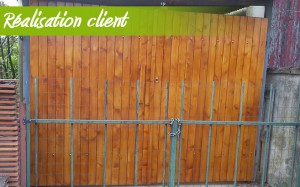 réalisation portail en pin sur mesure