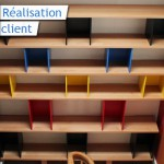 bibliothèque design en chêne
