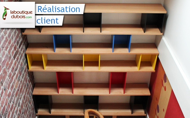 biblioth que design sur mesure le blog du bois. Black Bedroom Furniture Sets. Home Design Ideas