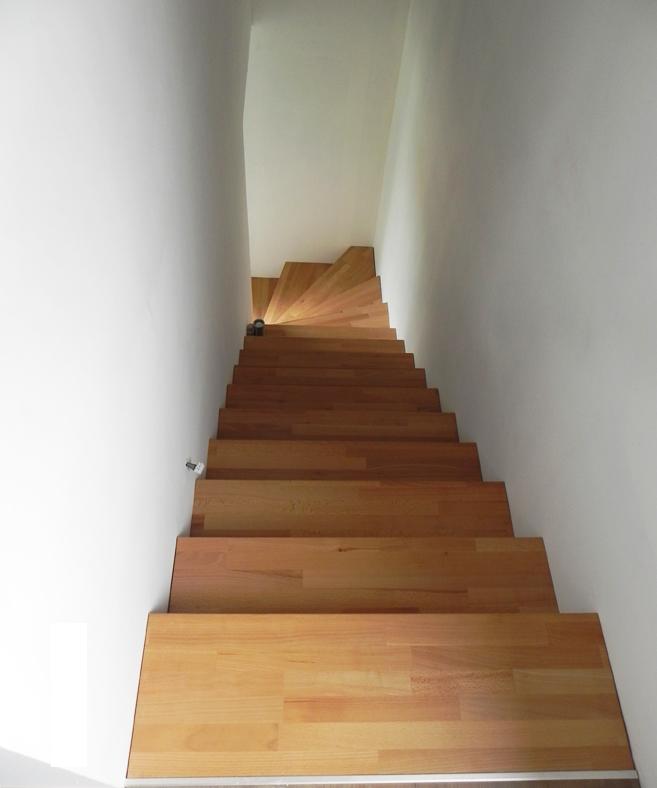 escalier hêtre quart tournant