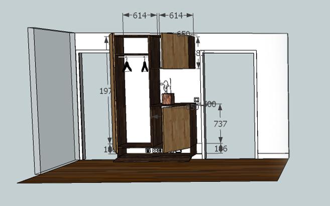 meuble d entr e suspendu le blog du bois. Black Bedroom Furniture Sets. Home Design Ideas