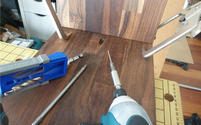 Meuble d entr e suspendu le blog du bois for Ferrure d assemblage pour meubles