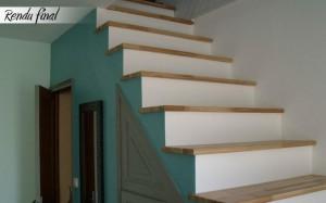 Rénovation escalier peuplier