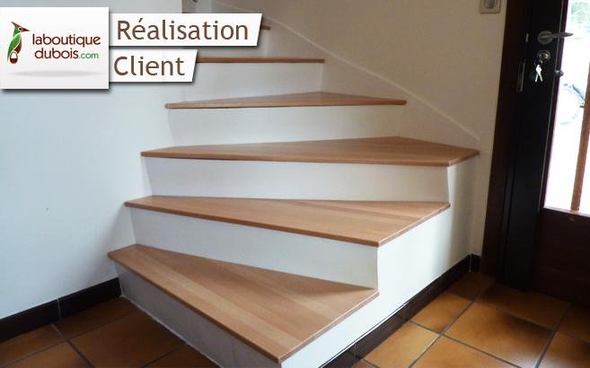 Rénover un escalier en béton Le blog du bois # Comment Rénover Un Escalier En Bois