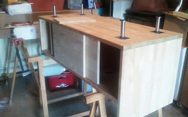 montage meuble tv bois