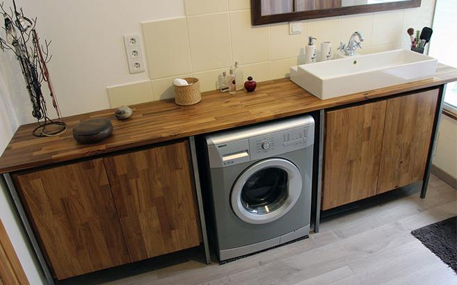 Plan de vasque sur mesure le blog du bois Plan de travail en teck