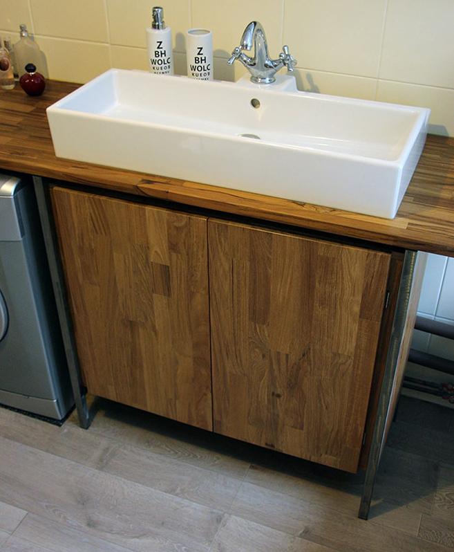 Plan de vasque sur mesure le blog du bois for Plan bois salle de bain