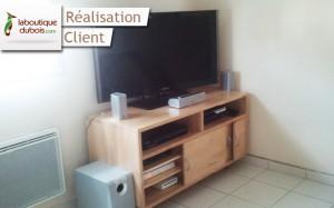 meuble tv bois massif design