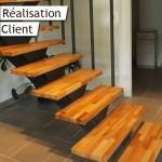réalisation escalier sur mesure marches en bois