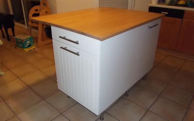 Ilot central de cuisine sur mesure le blog du bois for Meuble pour ilot central