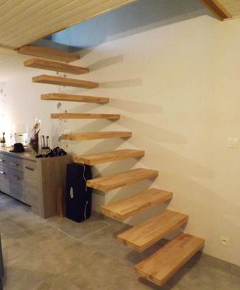 escalier bois avec limon invisible