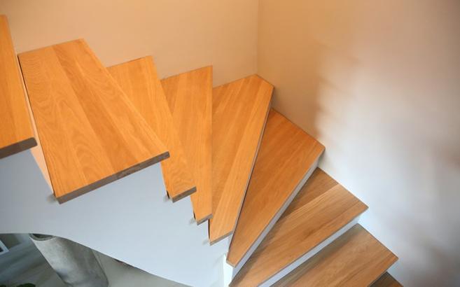 réalisation escalier chêne quart tournant