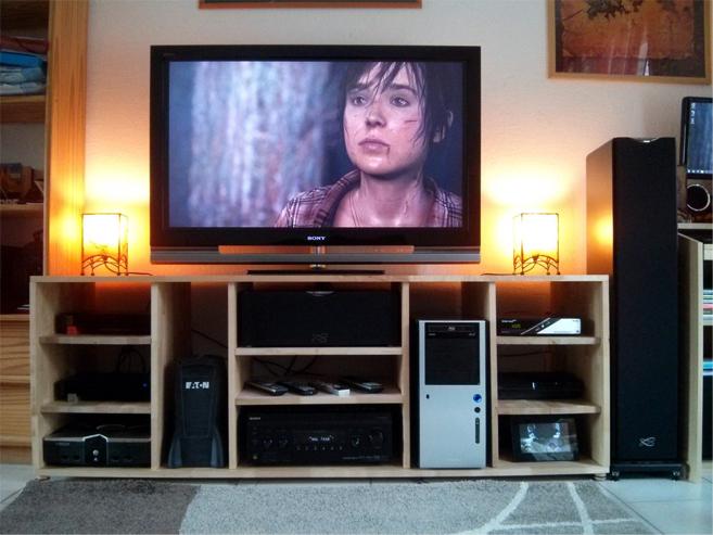 ... Meuble Tv Palette: Fabriquer meuble tv palette apprendre ? des meubles