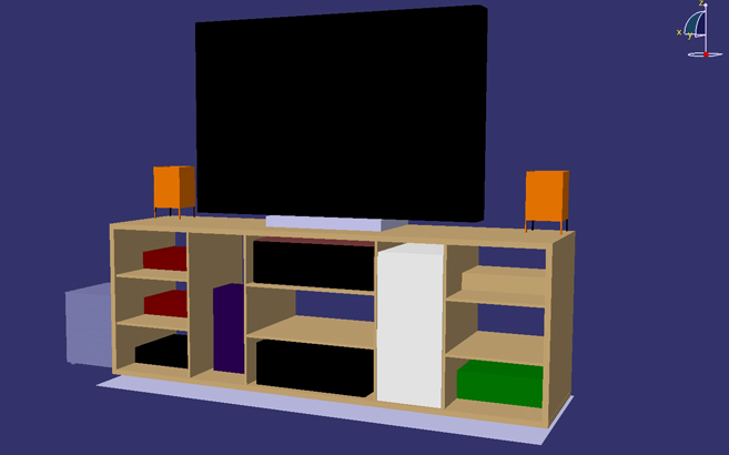 fabriquer son meuble tv en bois le blog du bois. Black Bedroom Furniture Sets. Home Design Ideas