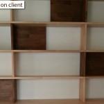 réalisation bibliothèque bois massif