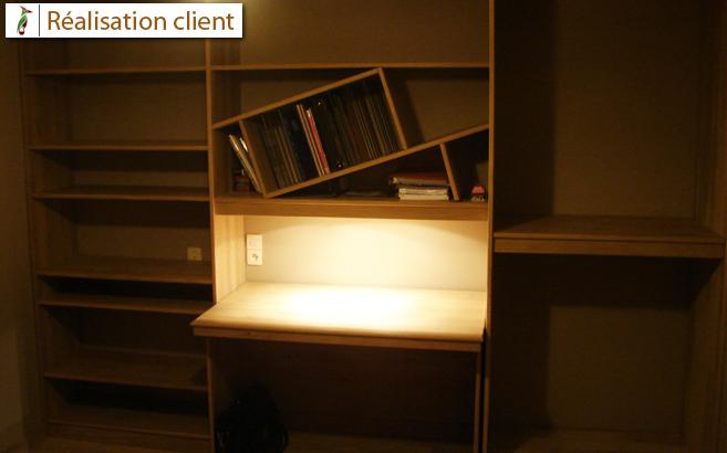 Bureau dressing sur mesure pour coll gien le blog du bois - Fabriquer son bureau sur mesure ...