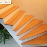 réalisation escalier chêne sur mesure