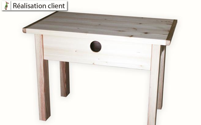 réalisation meuble de chevet bois sur mesure