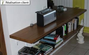 réalisation meuble séparateur en chêne sur mesure