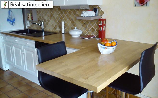 Avantage plan de travail en bois entretien plan de Plan de travail sur mesure cuisine