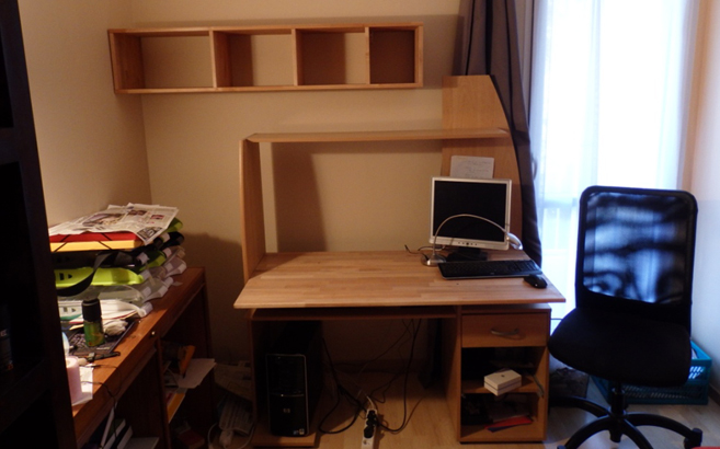 customiser un bureau standard le blog du bois. Black Bedroom Furniture Sets. Home Design Ideas