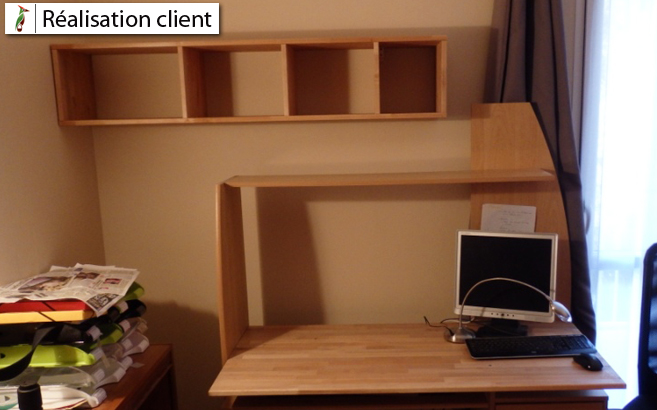 customiser un bureau stanard - Customiser Un Bureau En Bois