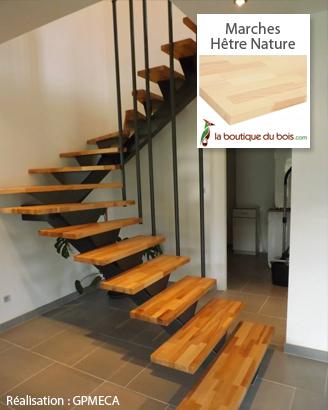 Réalisation client escalier tournant bois massif et métal
